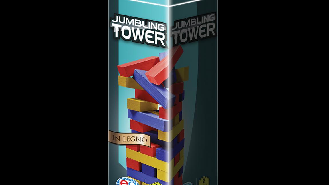 Jumbling Tower a colori in legno