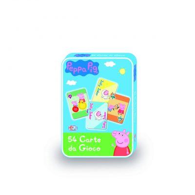 PEPPA PIG set 54 Carte da gioco in confezione di metallo