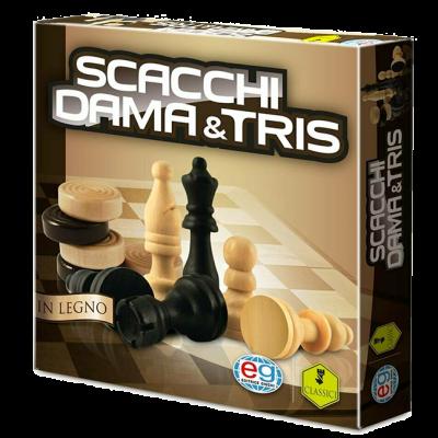 Scacchi, Dama & Tris in legno